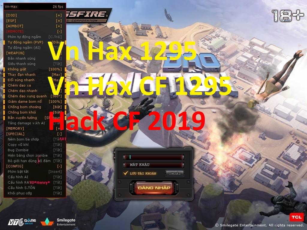 Về các chức năng của phần mềm Vn Hax 1295 – Cập Nhật Hack CF Đảo Sinh Tồn  Đột Kích 1295 các bạn xem đầy đủ ở hình trên.